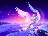 Angel Flying In Air