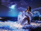Angel In Water In Moonlight