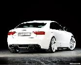 Audi  White Car Sexy Car  Rieger Double Silencer Sport Vehicle