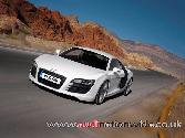 Audi  White Car Sexy Car Mountain Silver Alloy