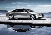Audi Luxurious Car Long Car Sivler Alloy Sea Side