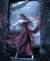Beautiful Girl In A Big Gown