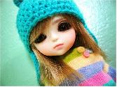Beautiful_toy_photography_sky Blue Cap Doll