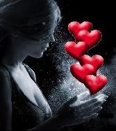 Beutiful Girl With Many Hearts
