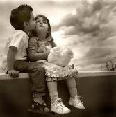 Black And White Scene Boy Kissing A Girl