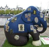 Blue And Black Elephant