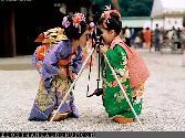 Chinese Girls Taking Photo