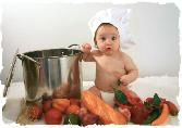 Cute Child With Vegetable