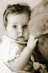 Cute Girl With Teddy