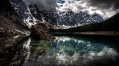 Dark Sky With Rock Stone