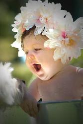 Flower Crown On Babies Head