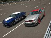 Ford Mustang Blue And Silver Racing