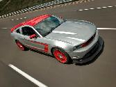 Ford Mustang Silver And Red With Red Alloy Wheels