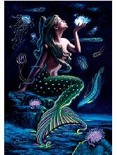 Mermaid Playing With Fishes