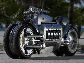 Silver Bike Monster Bike Huge Engine Fire Speed