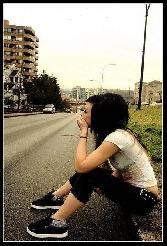 Sitting Alone Beautifu Girl