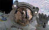 Space Spacesuit Astrounote Glass Light On Head Reflection