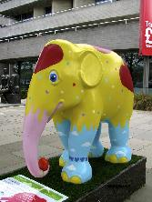 Yellow And Blue Elephant
